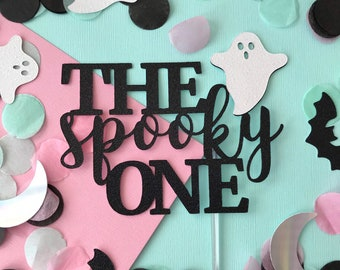 The Spooky One Cake Topper, Halloween Party Decor, Halloween Cake Topper, Cake Sign, First Birthday Party, Little Boo