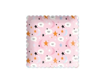 Pink Halloween Plates, Halloween Party Supplies, The spooky one