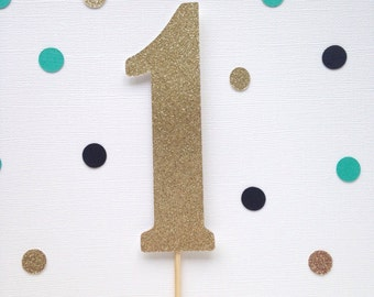 One Glitter Cake Topper - First Birthday - Party Decor