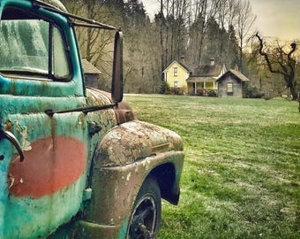 Truck, Vintage, Rustic, Old, Farm House, PNW, Washington State