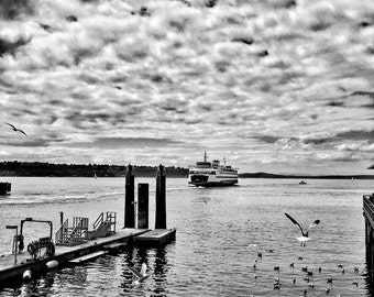 Seattle, Seattle Ferry, PNW, Washington State, Seattle Photography, Landscape Photography, Print