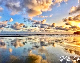 Landscape Photography, Sunset, Beach, Neah Bay, PNW, Washington State, Print