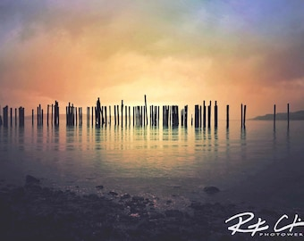 Tacoma Waterfront, Point Ruston, PNW, Washington State, Landscape Photography, Print