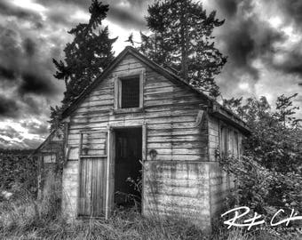 Vintage Barn, Sequim, Washington State, PNW, Landscape Photography, Print