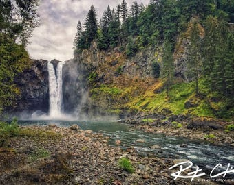 Snoqualmie Falls, Waterfall, PNW, Washington State, Landscape Photography, Print