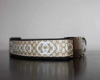 feb1ce37195b97 Designer Adjustable Dog Collar. Available in Silver