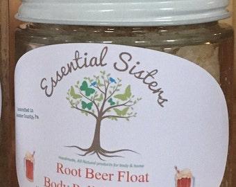 Root Beer Float Body Scrub - Root Beer Scrub - Body Polishing Scrub - All Natural Body Scrub - Root Beer Body Polish - 4 oz Body Scrub