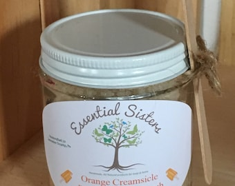 Orange Creamsicle Body Scrub - Orange Vanilla Scrub - Body Polishing Scrub - Natural Body Scrub - Orange Body Polish - 4 oz Creamsicle Scrub