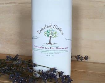 Natural Deodorant- Baking Soda Free Deodorant - Lavender Tea Tree Deodorant - Aluminum Free Deodorant - Deodorant - Deodorant Stick
