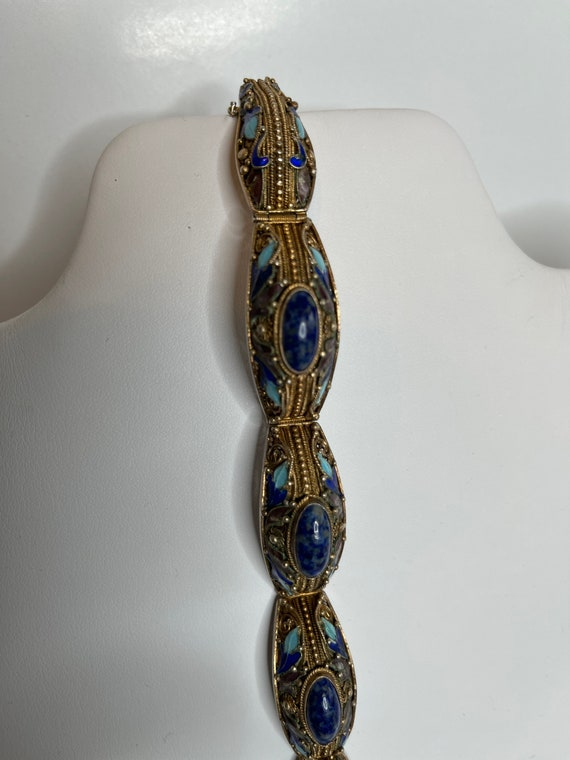 Vintage Chinese enamel and silver Bracelet