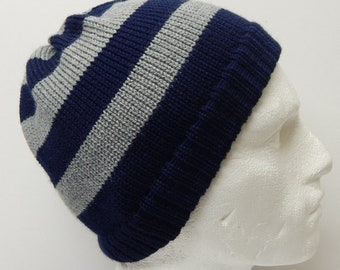 761c239f52f2c Grey and blue mens beanie