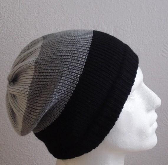 Gestrickte Männer Hut gestreift Männer Mützen stricken | Etsy