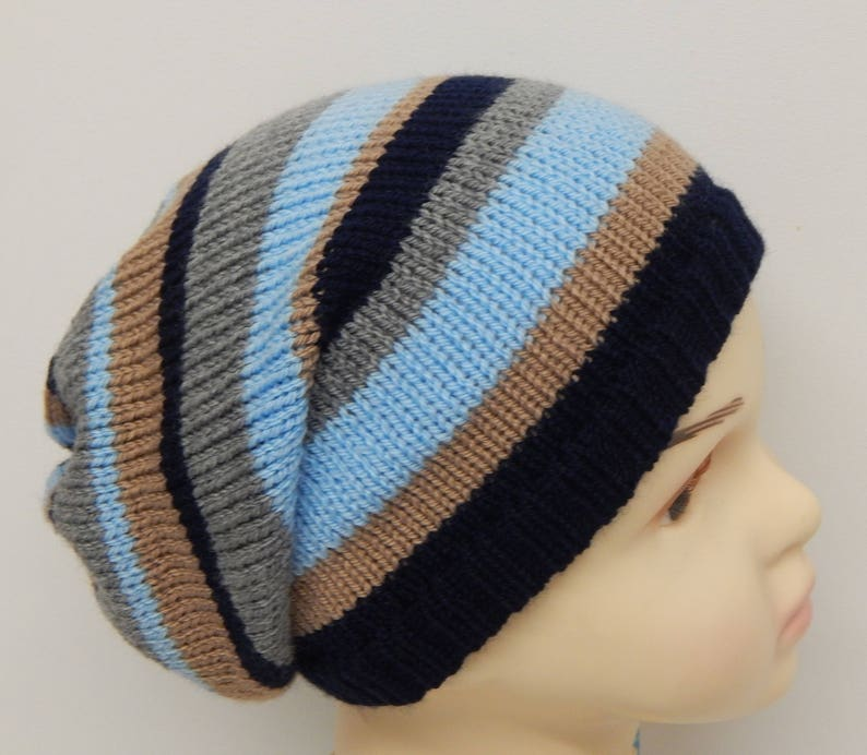 ac42b84e386 Knitted boy s winter hat knit kids slouchy beanie