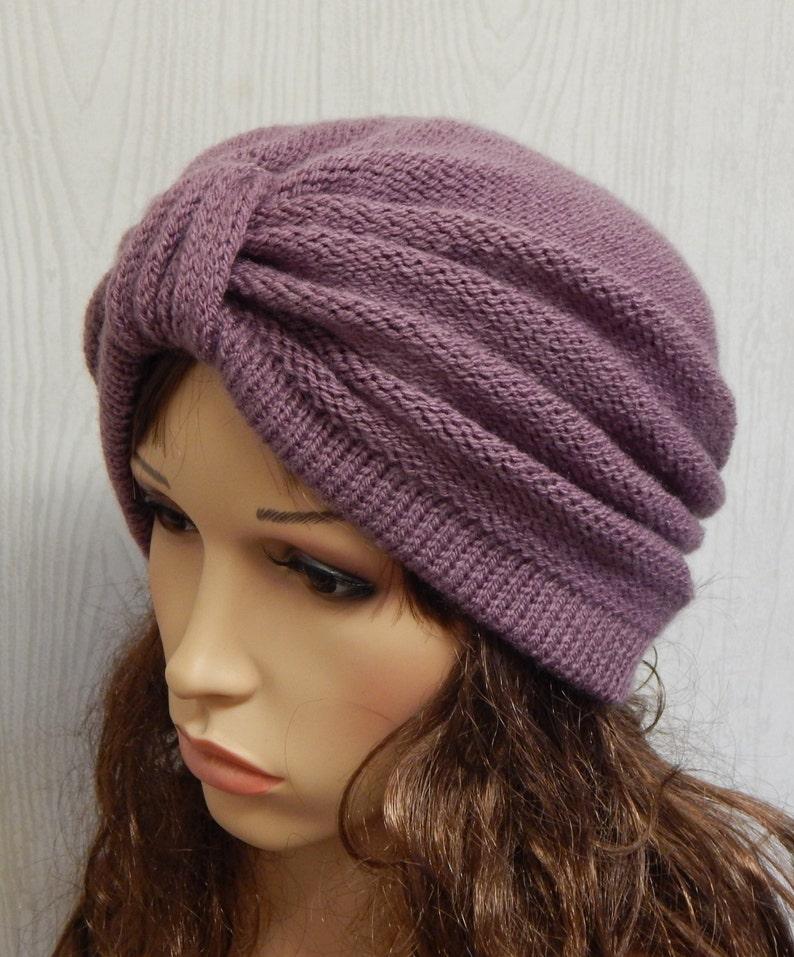 9f319d058dd5a Knitted women s full turban hat handmade beanie hat foe