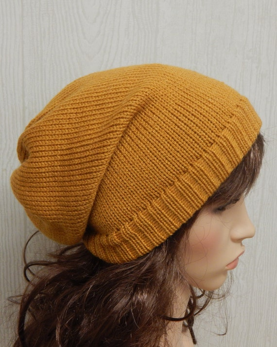 5905866bb863f Womens slouchy beanie knitted winter hat knit slouch beanie