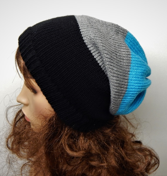 d2034a30a468b Knitted winter hat handmade beanie knit slouchy hat warm