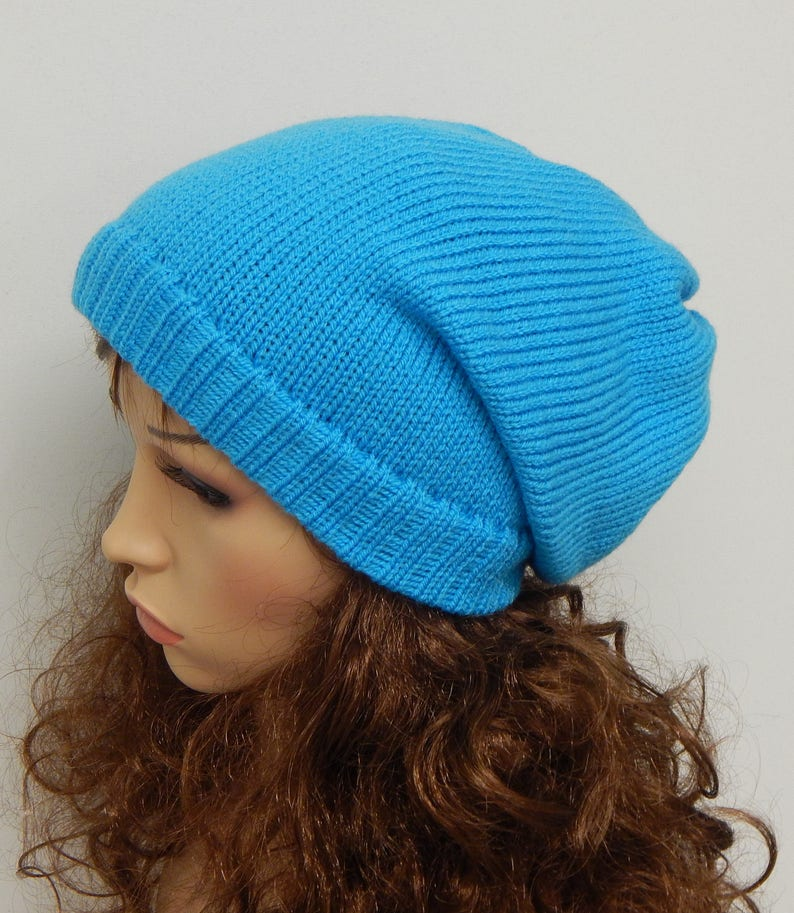 a684cb19ee628 Knit women s slouch hat handmade winter beanie knitted