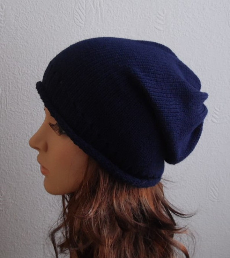 1d603354250 Womens Slouch Hat Knit Slouchy Beanie Knitted Womens Hats