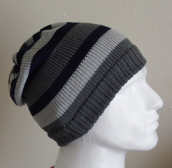 e294cd59e4b Knit hat for men mens striped hats knitted beanie warm