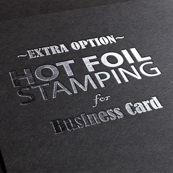 Foil stamping extra printing effects on your business card reheart Image collections