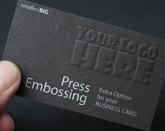 Round corner cutting extra printing effects on your business raised press embossing extra printing effects on your business card order effect only not cards reheart Image collections