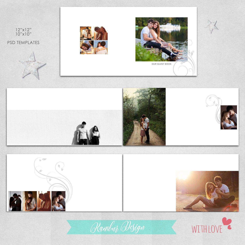 12 x 12 10 x 10 PSD 30 páginas libro de visitas álbum