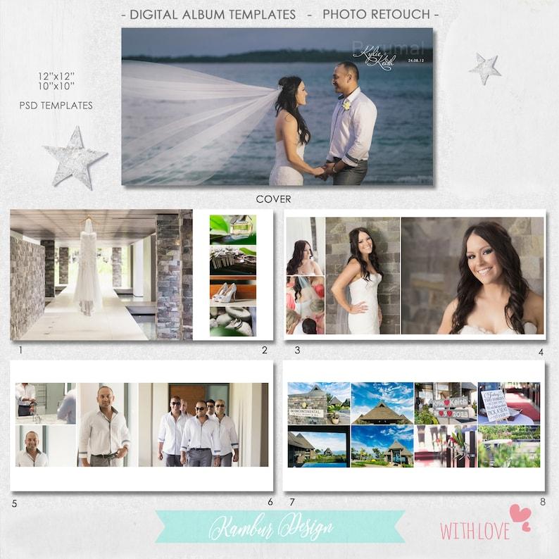 12X12, 10x10 (40 pages), PSD, Wedding Album Template - 20 spread - AL4