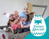 PATTERN BUNDLE - Easter Egg + Bunny 2 in 1 DIY costume tutorial creative play pdf ideas mask kids baby children Purim holiday Halloween gift