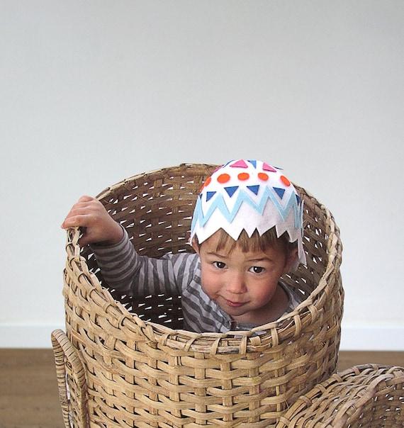 Ei Kap Hut Muster DIY Kostüm Tutorial Nähen kreativ Pdf Tiere Spielideen für Kinder Baby Kinder Ostern Purim Feiertag Halloween Geschenk
