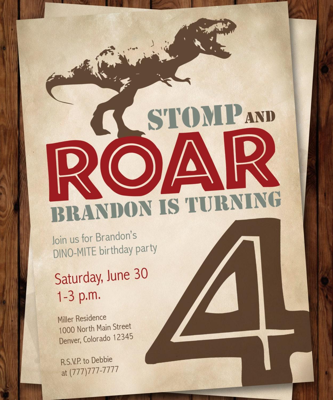 Dinosaur Invitation/Dinosaur Birthday Invitation/Dinosaur   Etsy