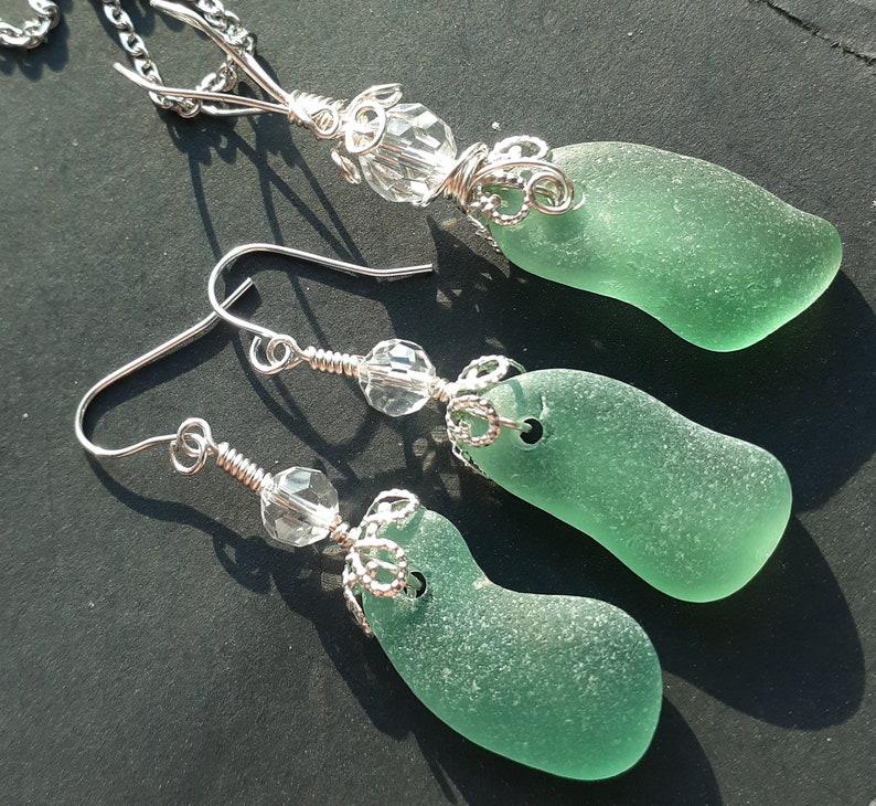 Gorgeous Aqua  Teal Spanish Seaglass Set