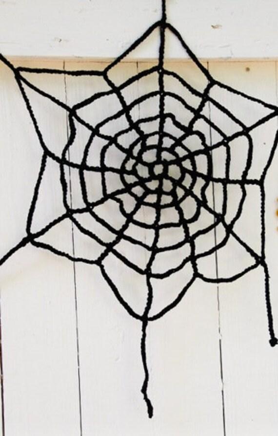 Spinnennetz Zu Häkeln Dekoration Für Halloween 40 Cm Etsy