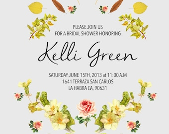 Bridal Shower Invites- Floral