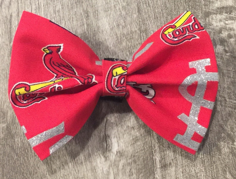 68f04ad63637 St Louis Cardinals Glitter Bow/Bow Tie | Etsy