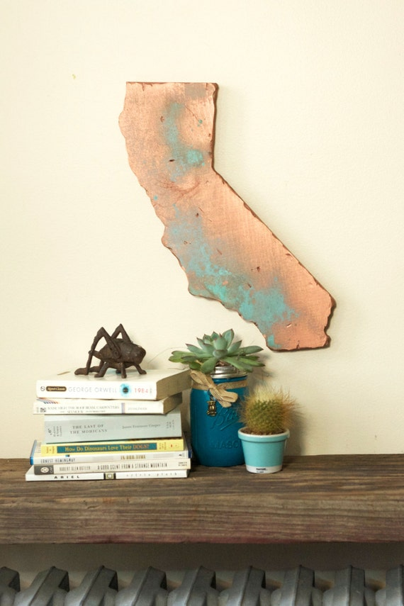 California State Wood Cut Out Silhouette Wall Art Decor House Etsy