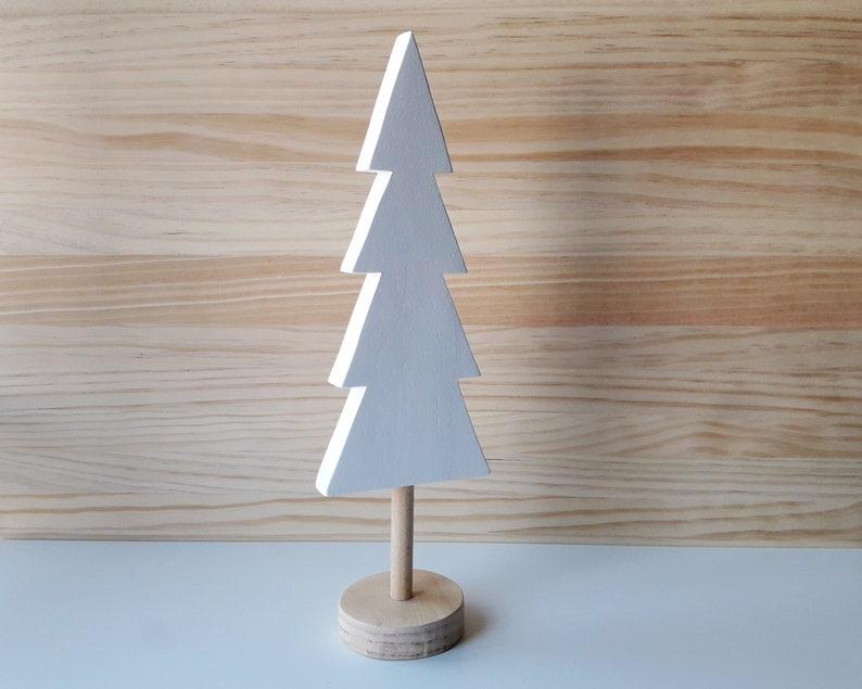 Nordic wooden Christmas tree Minimalist home decor Wood image 0