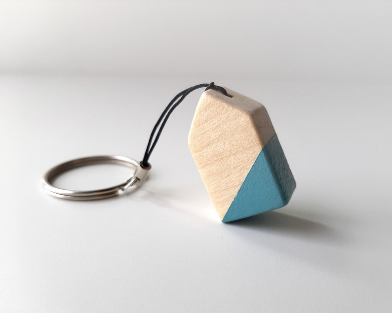 Key ring with small wooden house Mothers day gifts ideas image 0