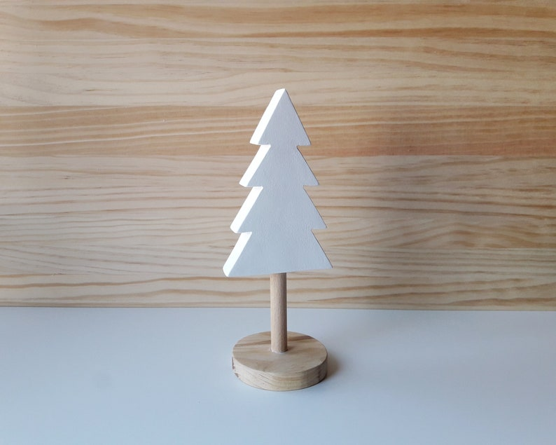 Minimalist wooden Christmas tree Scandinavian home decor image 0