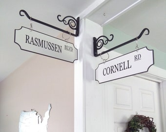 Personalized Street Signs, Rustic Street Signs, Farmhouse Style Decor, Vintage Decor, Distressed Farmhouse Decor **Bracket NOT included