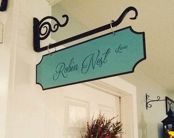 Personalized Street Signs Vintage Distressed Farmhouse Decor Spring Bracket NOT Included