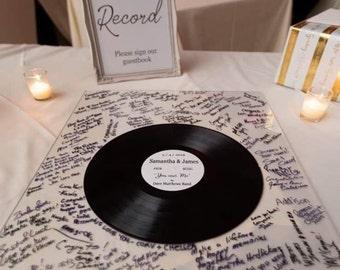Wedding Guest Book Idea, Custom Record Guest Book, Vinyl Record Guest Book, Personalized Wedding Decor