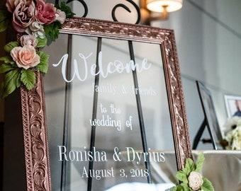 "Customized Wedding Welcome Sign, 16"" x 20"", Wedding Frame Sign, Welcome Sign, Wedding Sign"