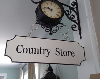 Country Store Sign, Personalized Street Signs, Rustic Street Signs, Farmhouse Style Decor, Distressed Farmhouse Decor **Bracket NOT included