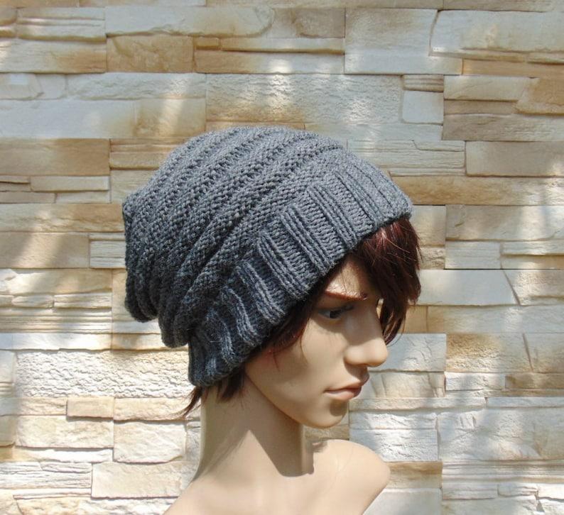 77ad7b09102a1 Alpaca Grey Slouchy Beanie Free Style Knit Fall Warm Hat