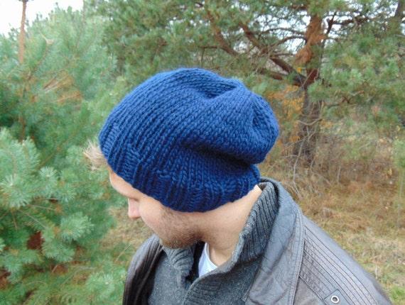 Cappello di inverno per gli uomini blu Navy Knit Beanie di  44920a7b039c