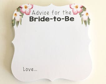 Advice Cards, Advice Cards for the Bride-to-Be, Wedding Advice Cards, Words of Wisdom for the couple