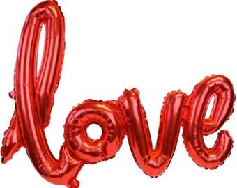Ballon rouge amour - douche nuptiale Balloon - ballon décoration de mariage