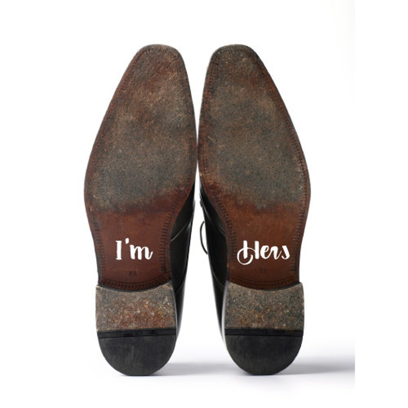 Shoe Decals Wedding Sticker Decals for Your Shoes I'm image 0