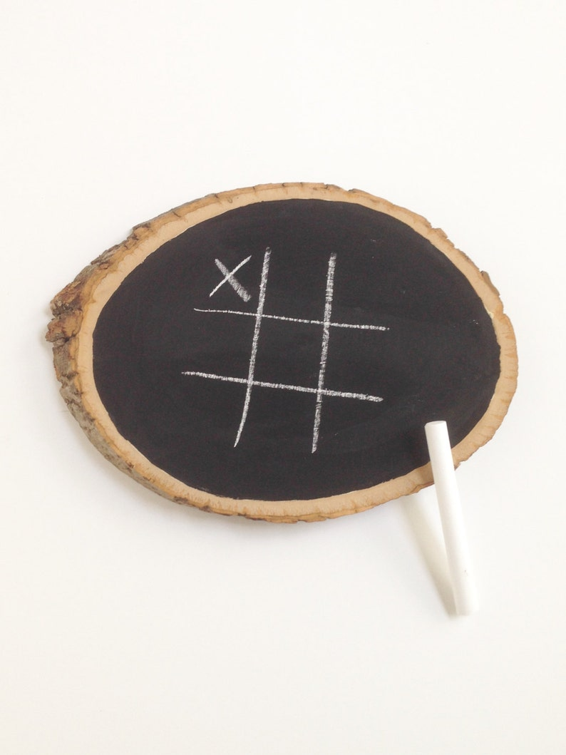 Wedding Games Tic-Tac-Toe Wedding Game Chalk Board Game image 0