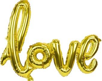 Amour d'or ballon - ballon douche nuptiale - ballon décoration de mariage
